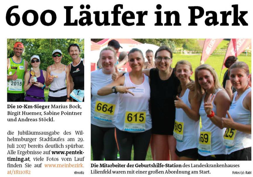 Bezirksblatt Stadtlauf 2016 Lilienfeld 2