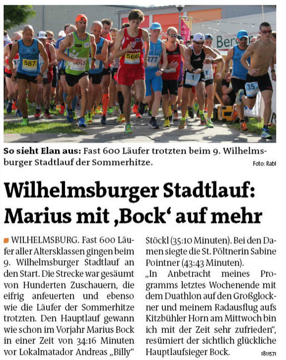Bezirksblatt Stadtlauf 2016 St. Pölten