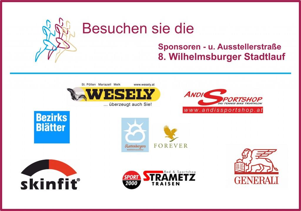 Sponsoren und Ausstellerstraße 2015