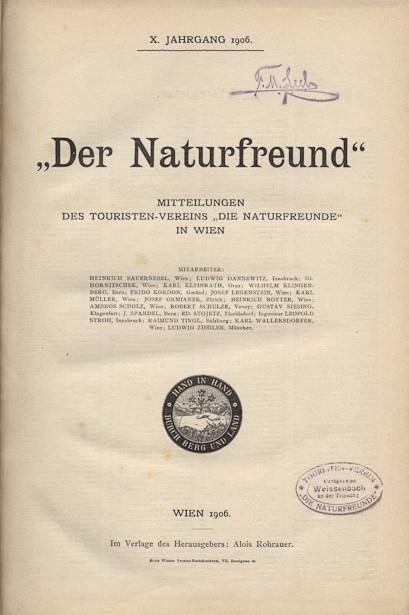 Der Naturfreund Chronik Mitteilungen