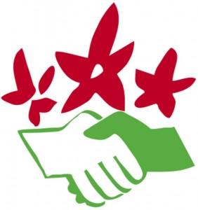 Logo Naturfreunde Hände Blumen