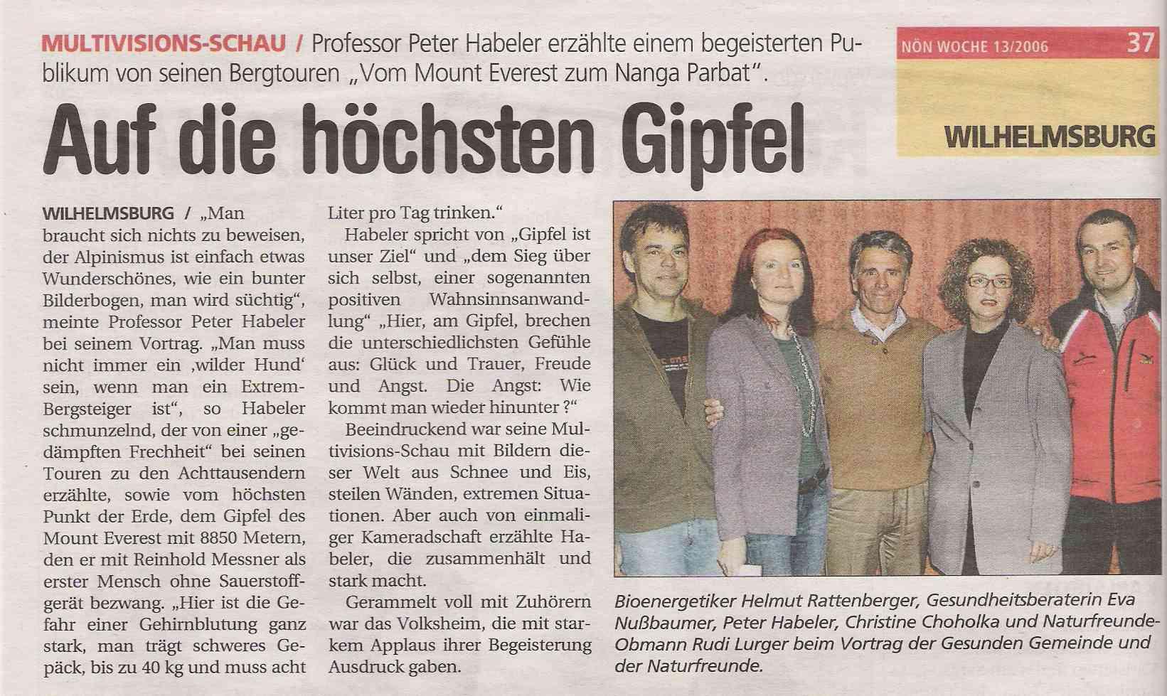 Habeler_NÖN 2006
