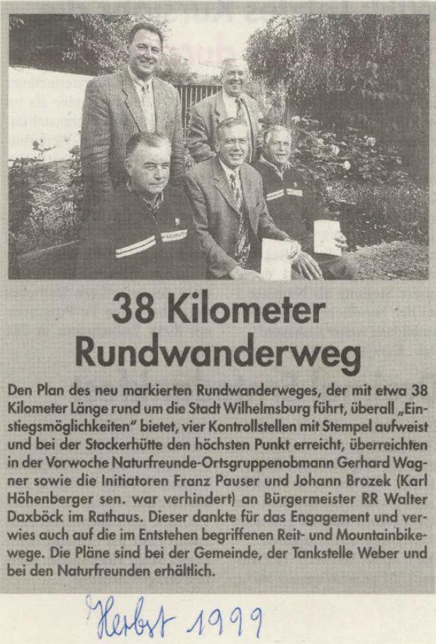 Rundwanderweg 1999