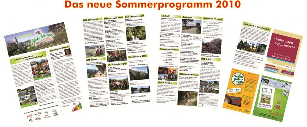 Das neue Sommerprogramm 2010