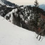 Übergang zum Gipfelhang