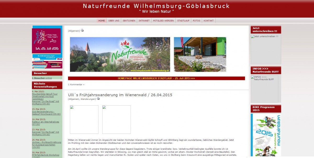 Homepage Design 2009 bis 05 2015