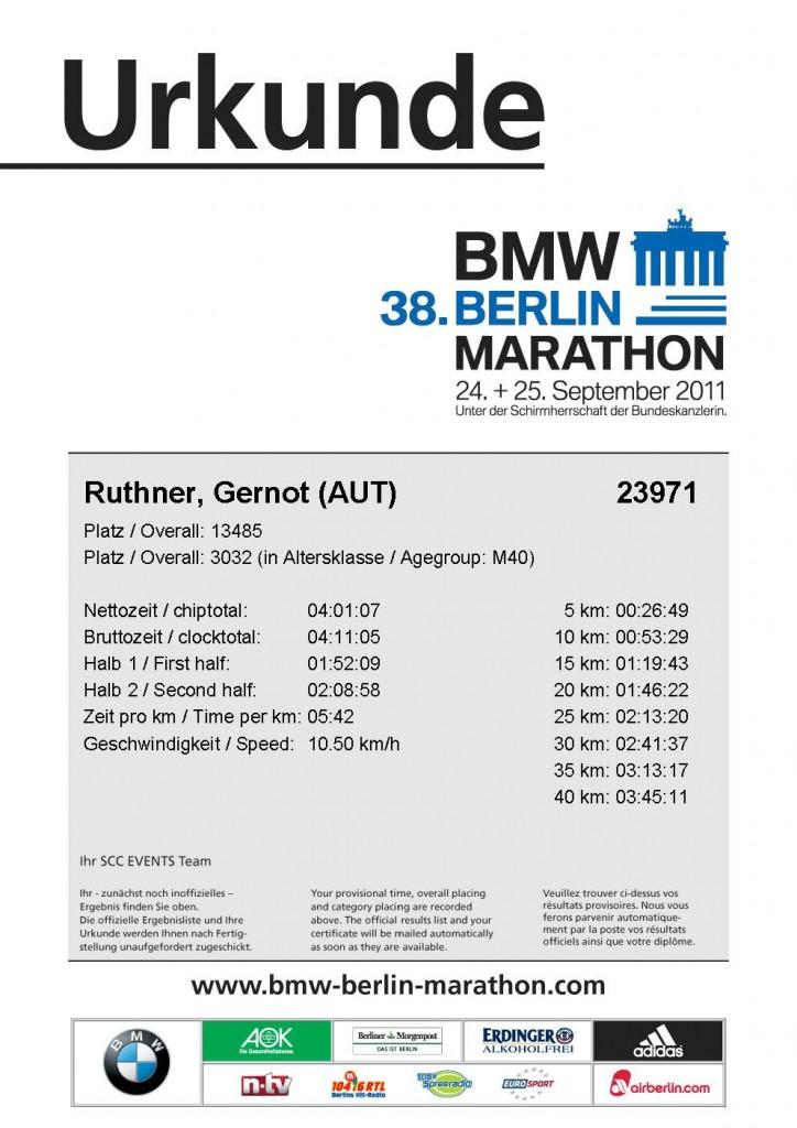 Ruthner Gernot Berlin Marathon